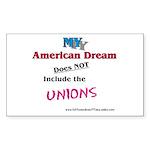 MY American Dream Sticker (Rectangle 50 pk)