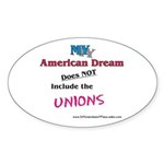 MY American Dream Sticker (Oval 50 pk)