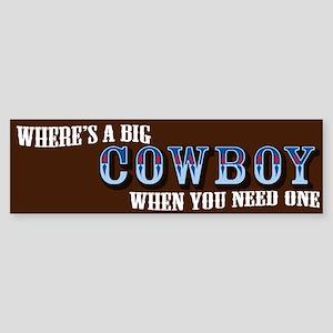 Big Cowboy Bumper Sticker