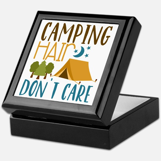 Camping Hair Don't Care Keepsake Box