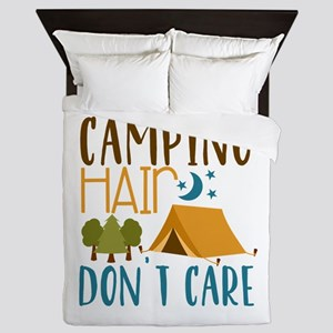 Camping Hair Don't Care Queen Duvet