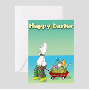 Happy easter,eggspress Greeting Card