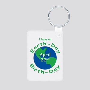 Earth Day Birthday Aluminum Photo Keychain