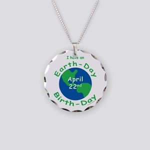 Earth Day Birthday Necklace Circle Charm
