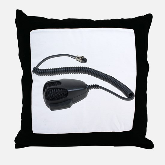 Hand Microphone Cable Throw Pillow