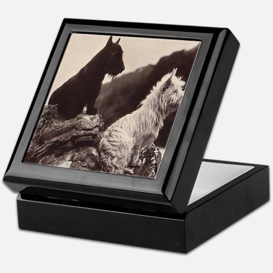 Scottish and West Highland White Terrier Tile Box