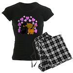 Kitty Cat Love Women's Dark Pajamas
