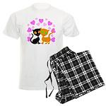 Kitty Cat Love Men's Light Pajamas