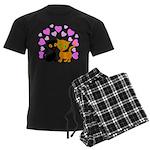 Kitty Cat Love Men's Dark Pajamas