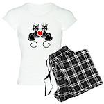 Black Cat Love Women's Light Pajamas