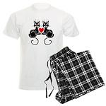 Black Cat Love Men's Light Pajamas