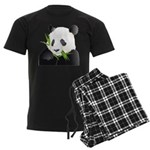 Panda Bear Men's Dark Pajamas