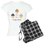Live Love Cupcakes Women's Light Pajamas