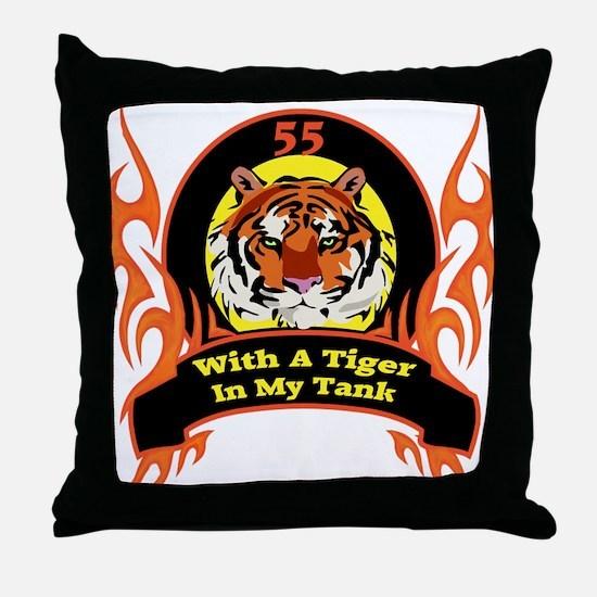 55th Birthday Throw Pillow
