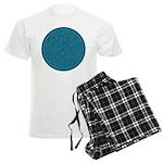 Scribble Circle Men's Light Pajamas