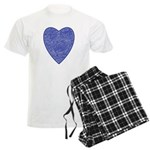 Blue Heart Men's Light Pajamas