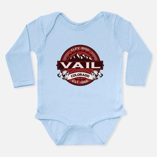 Vail Red Long Sleeve Infant Bodysuit