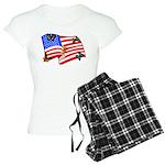 American Flag Butterflies Women's Light Pajamas
