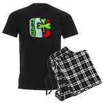 Irish Flag of Ireland Men's Dark Pajamas
