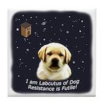 Labcutus of Dog Tile Coaster