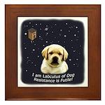 Labcutus of Dog Framed Tile