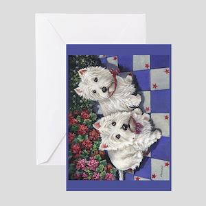 WESTIE SUMMER BREEZE Greeting Cards (Pk of 10)