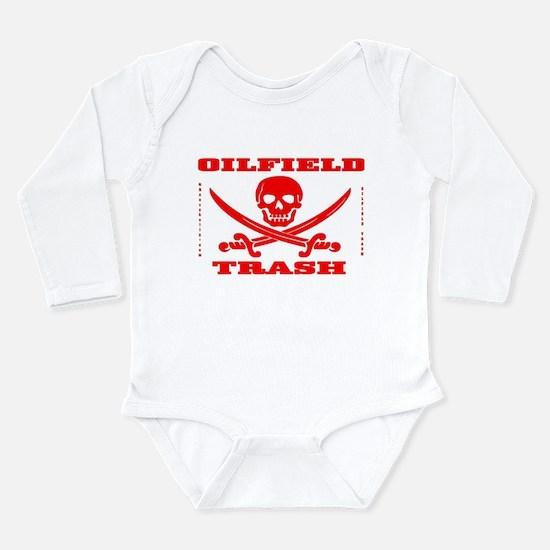 Oil Field Trash,Skull Long Sleeve Infant Bodysuit