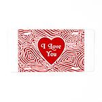 I Love You Heart Aluminum License Plate