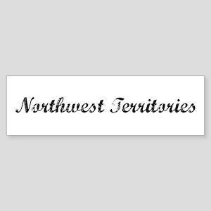 Vintage Northwest Territories Bumper Sticker