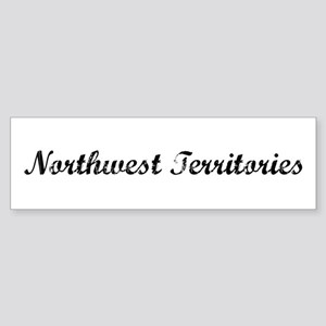 Vintage Northwest Territories Bumper Sticker