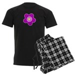 Flowers Are Fun Men's Dark Pajamas