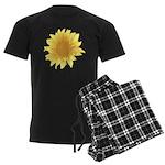 Elegant Sunflower Men's Dark Pajamas