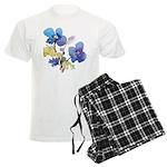 Watercolor Flowers Men's Light Pajamas