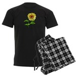 Sunflowers Men's Dark Pajamas