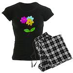 Cute Bouquet Women's Dark Pajamas