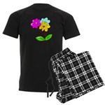 Cute Bouquet Men's Dark Pajamas