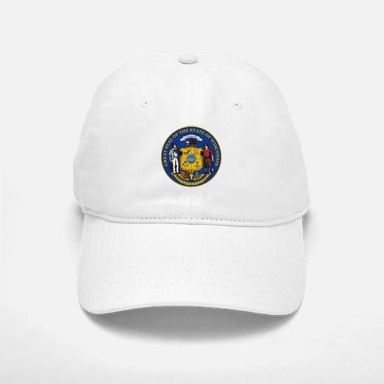 Wisconsin Crest Baseball Baseball Cap