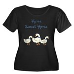 Home Sweet Home Women's Plus Size Scoop Neck Dark