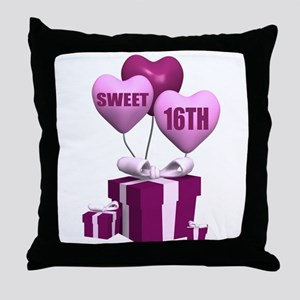 16th Birthday Throw Pillow