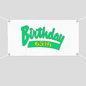 65th Birthday Banner