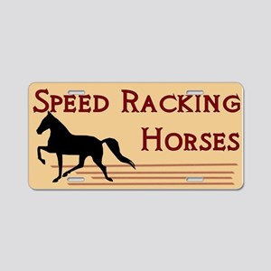 Speed Racking Horses Aluminum License Plate