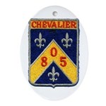 USS CHEVALIER Ornament (Oval)