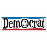 Democrat Smiley Face Sticker (Bumper)