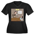 Hospital Del Women's Plus Size V-Neck Dark T-Shirt
