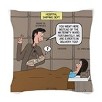 Hospital Delivery Mix-Up Woven Throw Pillow