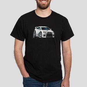Mitsubishi Evo White Car Dark T-Shirt