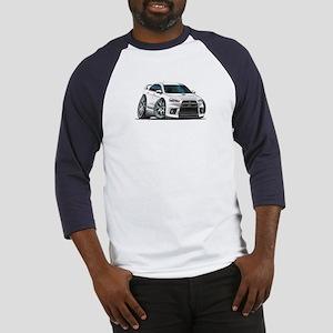 Mitsubishi Evo White Car Baseball Jersey