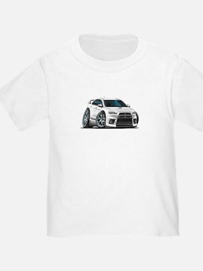 Mitsubishi Evo White Car T