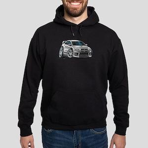 Mitsubishi Evo Silver Car Hoodie (dark)