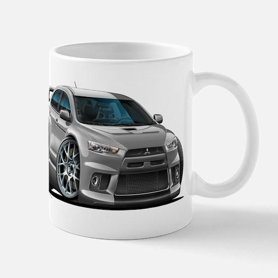 Mitsubishi Evo Silver Car Mug